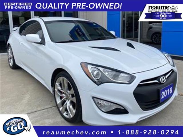 2016 Hyundai Genesis Coupe 3.8 R-Spec (Stk: 21-0649A) in LaSalle - Image 1 of 16