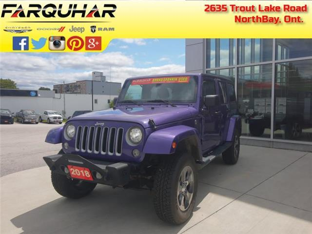 2018 Jeep Wrangler JK Unlimited Sahara (Stk: 21242A) in North Bay - Image 1 of 30