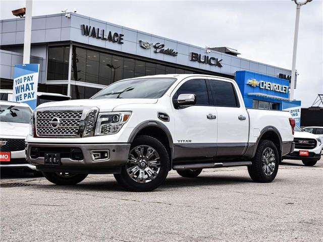 2017 Nissan Titan 4WD Crew Cab, PLATINUM, HEATED AND COOLED SEATS (Stk: PR5464) in Milton - Image 1 of 25