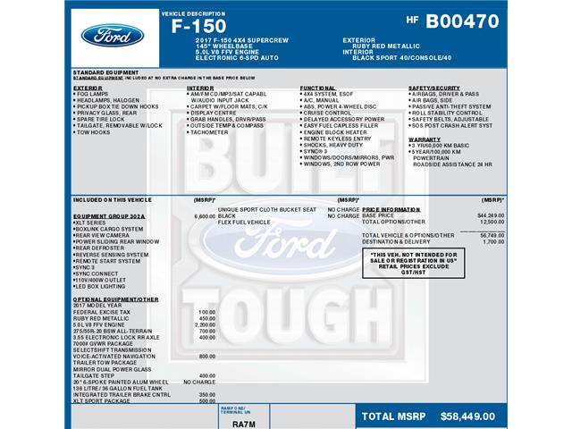 2017 Ford F-150 XLT (Stk: C6322) in Concord - Image 1 of 1