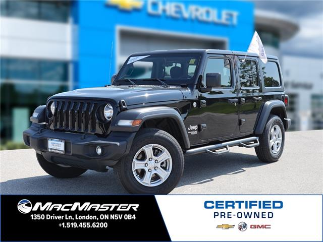 2019 Jeep Wrangler Unlimited Sport (Stk: 210727A) in London - Image 1 of 22
