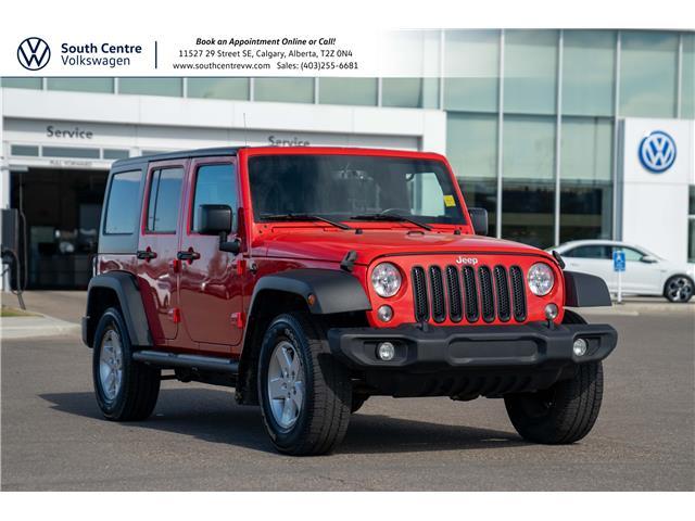 2018 Jeep Wrangler JK Unlimited Sport 1C4BJWDG6JL840235 10215A in Calgary