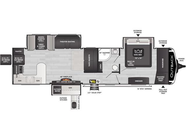 New 2022 Keystone 332ML   - Humboldt - South 20 RV Centre