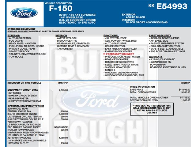 2019 Ford F-150 Lariat (Stk: C6525) in Concord - Image 1 of 1
