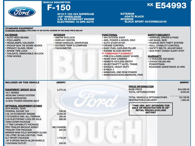 2019 Ford F-150 XLT (Stk: C6524) in Concord - Image 1 of 1