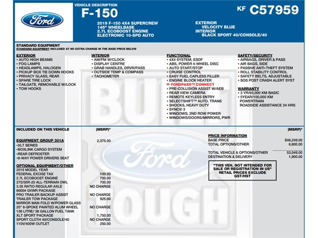 2019 Ford F-150 XLT (Stk: C6530) in Concord - Image 1 of 1