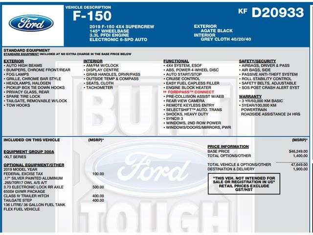 2019 Ford F-150 XLT (Stk: C6534) in Concord - Image 1 of 1